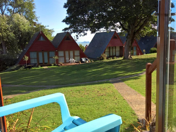 lodge by the sea at Kingsdown Holiday Park