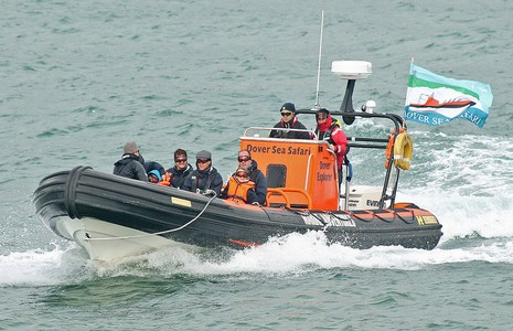 Picture of a RIB boat in the English Channel